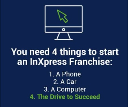 You only need 4 things to start an InXpress franchise